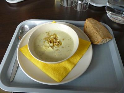 """汁バッフェイのアーティチョーク汁・artichoke soup from the """"soup buffet"""""""