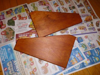 after two coats of rub-on stain