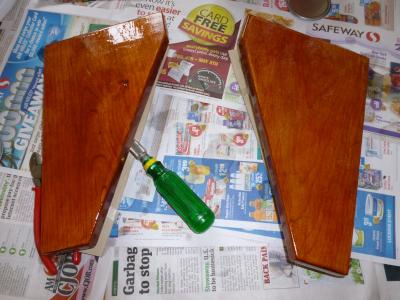 after about three coats of varnish