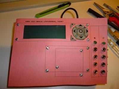 early mock-up front panel