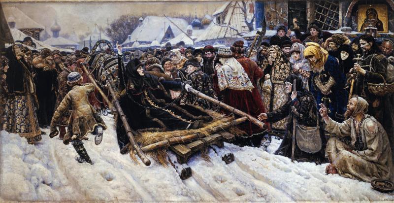 Byarynya Morozova by Vasily Surikov