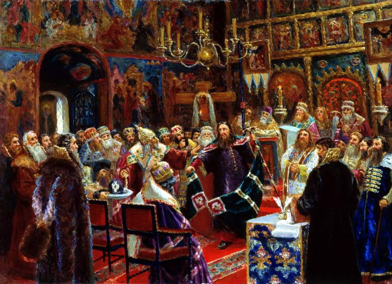 painting of the court over Patriarch Nikon