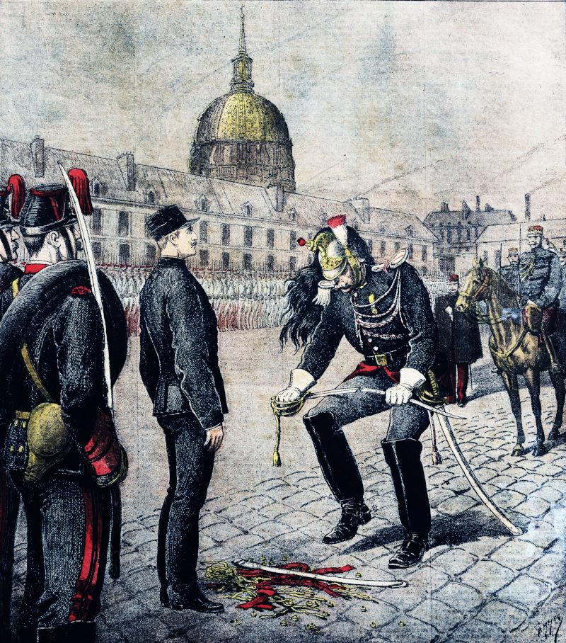illustration by Henri Meyer:  Cashiering of Alfred Dreyfus